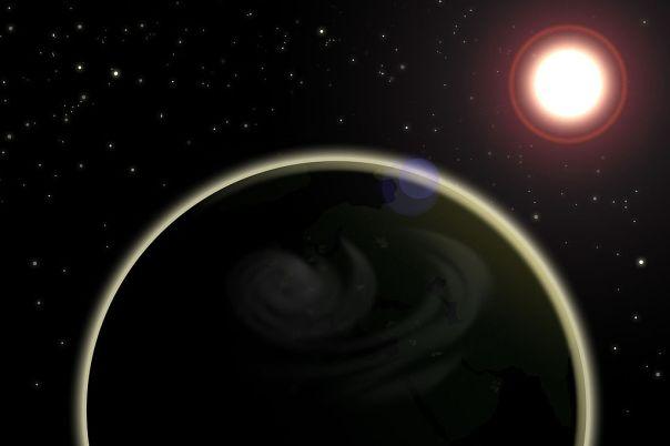 Planet_Erde_im_Weltall_mit_Sonne