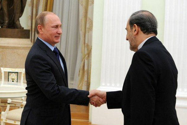 Iran_s senior leader Ali Akbar Velayati meets Russia_s Vladimir Puti