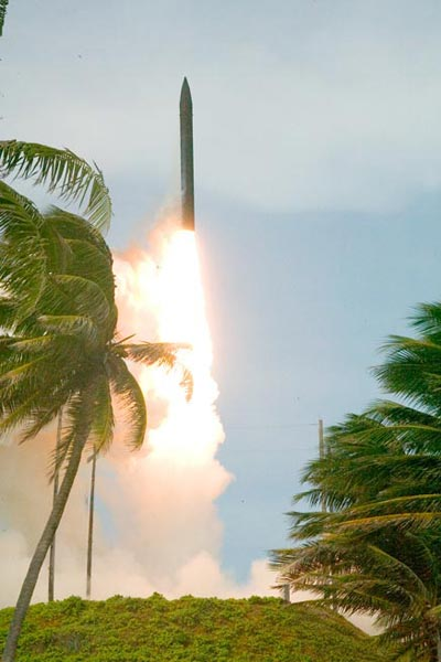 Kwajalein missile launch