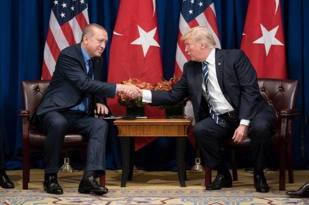 Recep Tayyip Erdoğan meets Trump