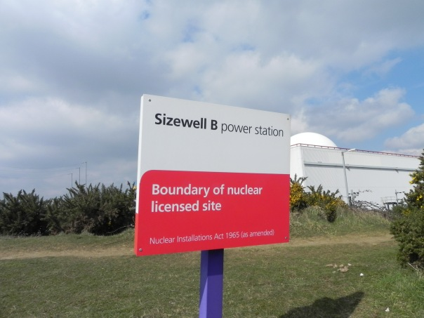 Sizewell sign