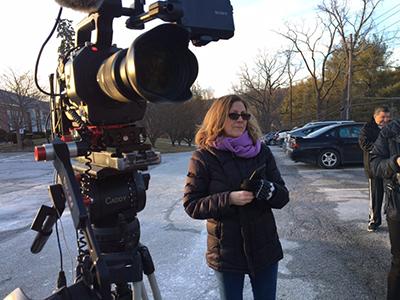Heidi filming