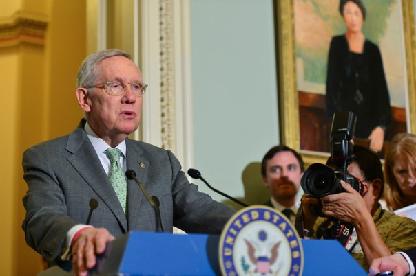 Senator Harry Reid met with Supreme Court nominee Merrick Garland