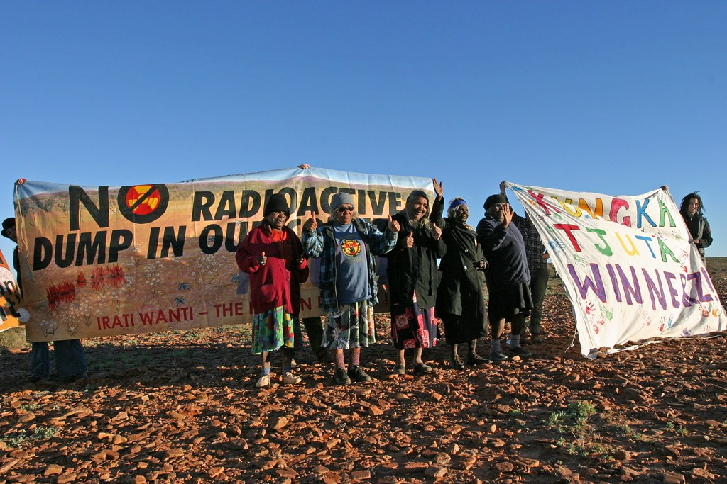 Aboriginal Traditional Owners protest against nuclear waste, Australia